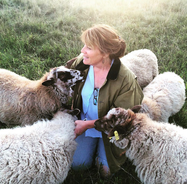 Tamara White and sheep