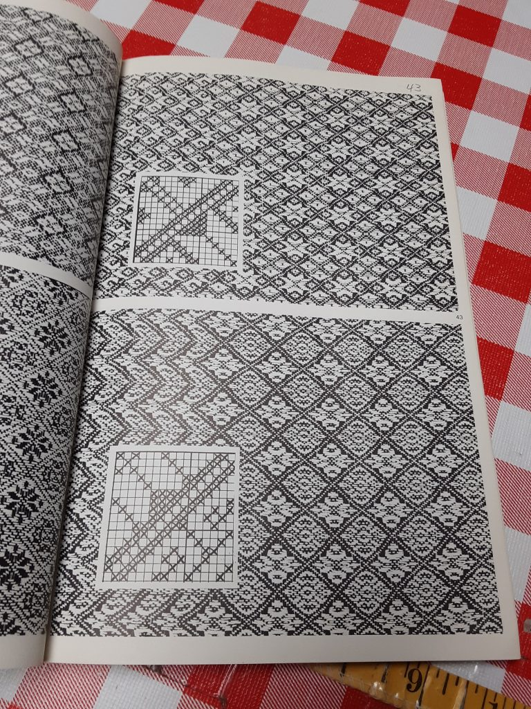 open book to twill patterning images
