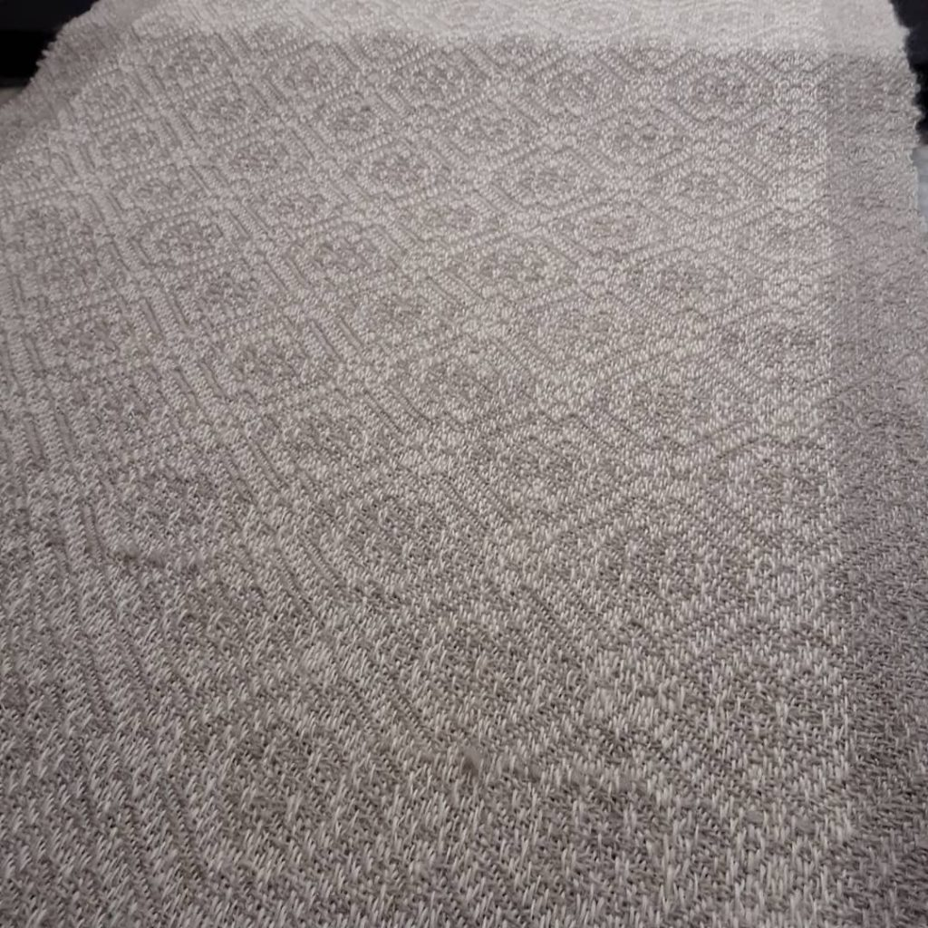 Pale grey patterned cloth
